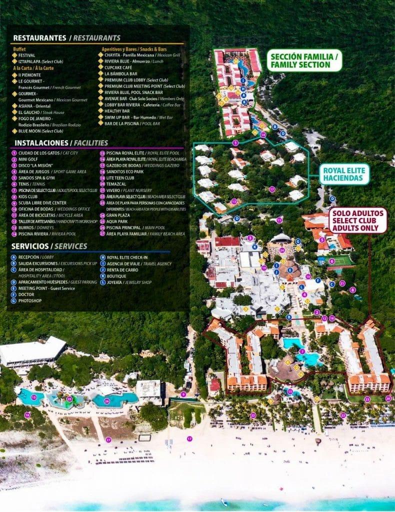 Sandos Playacar Hotel Map Of Grounds 2021