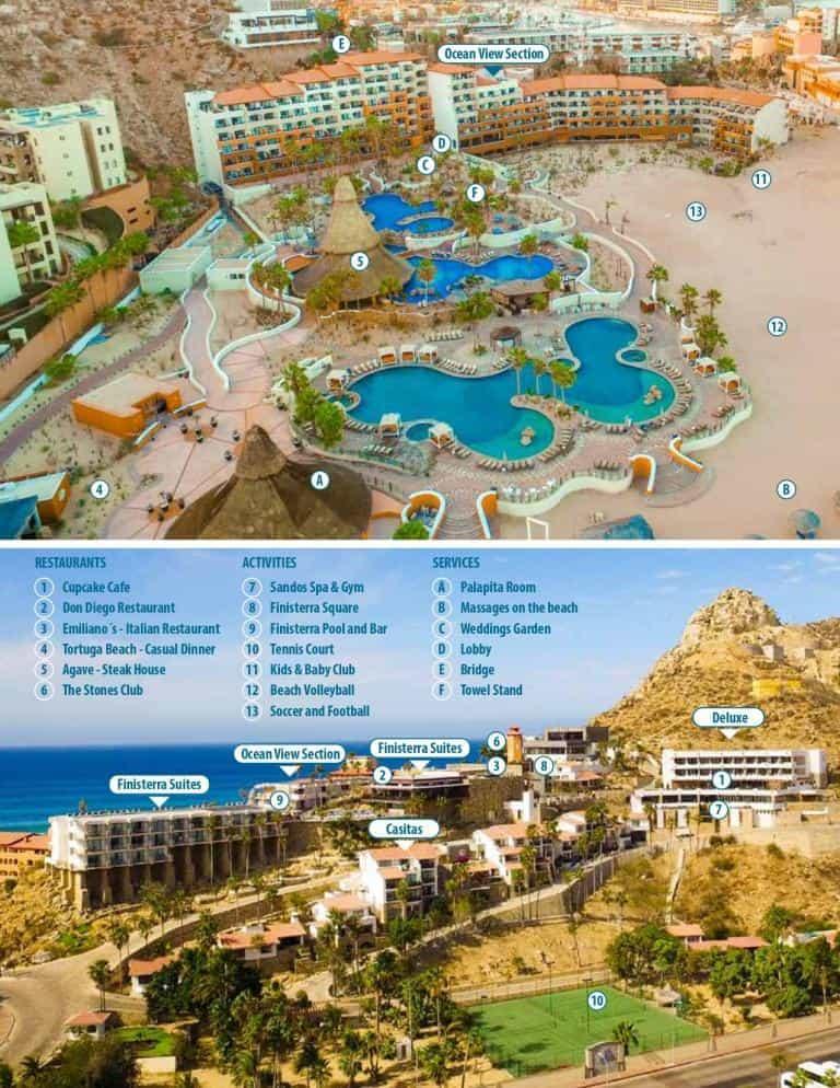Sandos Finisterra Beach Resort Map 2019