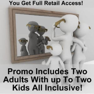 timeshare promo includes two adults with up to two kids for an all inclusive stay cheap